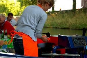 Kok bij de Tapasboot